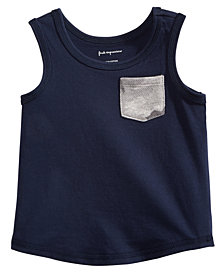 First Impressions Pocket Cotton Tank Top, Baby Boys, Created for Macy's