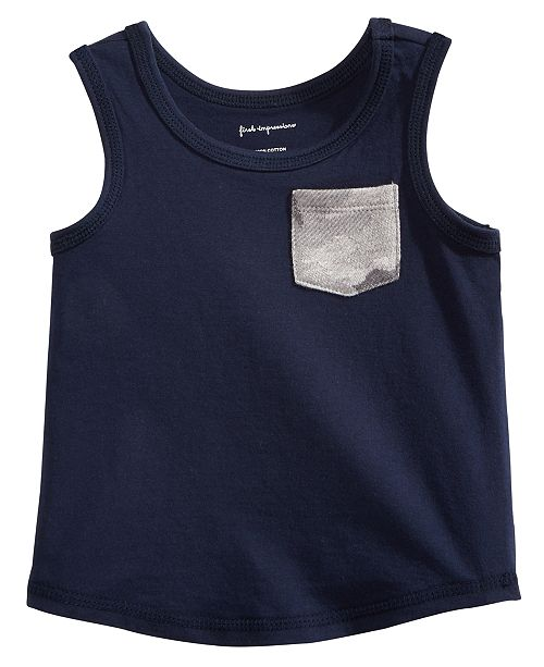 Pocket Cotton Tank Top, Baby Boys, Created for Macy's