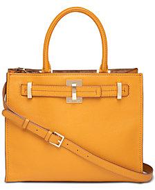 Calvin Klein Faye Leather Satchel