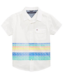 Tommy Hilfiger Zachary Striped Cotton Shirt, Toddler Boys