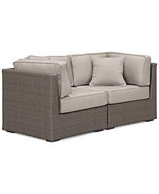 South Harbor Outdoor 2-Pc. Modular Seating Set (2 Corner Units), with Custom Sunbrella® Colors, Created for Macy's