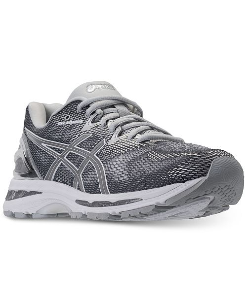 Asics Men's GEL-Nimbus 20 Platinum Running Sneakers from Finish Line ...