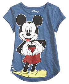Disney's® Mickey Sweetheart Cotton T-Shirt, Little Girls