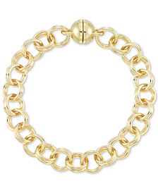 Signature Gold™ Double Link Chain Bracelet in 14k Gold over Resin