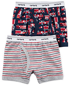 Carter's 2-Pk. Firetruck Cotton Boxer Briefs, Little Boys & Big Boys