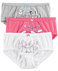 Carter's 3-Pk. Animal-Graphic Panties, Little Girls & Big Girls