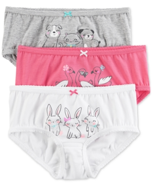 Carters 3Pk AnimalGraphic Panties Little Girls  Big Girls