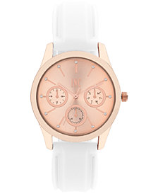 I.N.C. Women's White or Blush Silicone Strap Watch 36mm, Created for Macy's