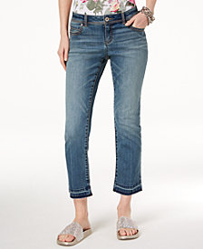 I.N.C. Curvy-Fit Straight-Leg Cropped Jeans, Created for Macy's