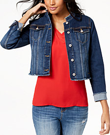 I.N.C. Cropped Denim Jacket, Created for Macy's