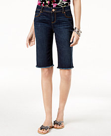 I.N.C. Frayed-Hem Shorts, Created for Macy's