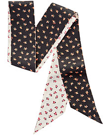 COACH Floral Bloom Silk Skinny Scarf