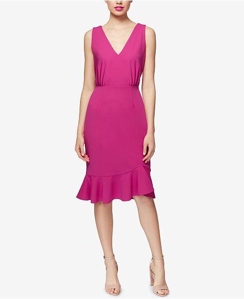 80be78f1e46e Betsey Johnson Ruffled Scuba Crepe Dress & Reviews - Dresses - Women ...