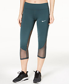 Nike Racer Mesh-Trimmed Cropped Running Leggings