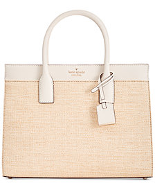kate spade new york Cameron Street Straw Candace Medium Satchel