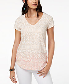 Lucky Brand Cotton Printed Gradient T-Shirt