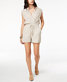 Lucky Brand Striped Surplice Romper