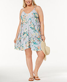 Becca ETC Plus Size Printed Cover-Up Dress