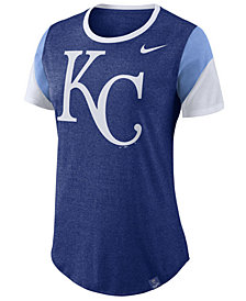 Nike Women's Kansas City Royals Tri-Blend Crew T-Shirt