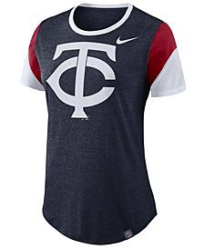 Nike Women's Minnesota Twins Tri-Blend Crew T-Shirt