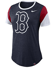 Nike Women's Boston Red Sox Tri-Blend Crew T-Shirt
