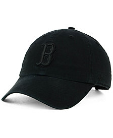 '47 Brand Boston Red Sox Black on Black CLEAN UP Cap