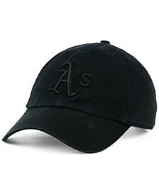 Oakland Athletics Black on Black CLEAN UP Cap