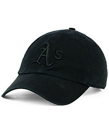 '47 Brand Oakland Athletics Black on Black CLEAN UP Cap