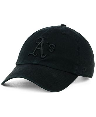 '47 Brand Oakland Athletics Black on Black CLEAN UP Cap