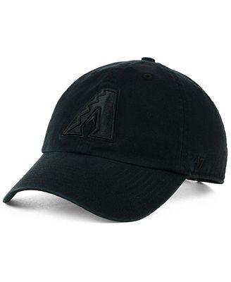 '47 Brand Arizona Diamondbacks Black on Black CLEAN UP Cap