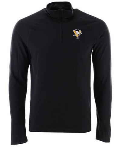 adidas Men's Pittsburgh Penguins Secondary Logo Climatelite Quarter-Zip Pullover
