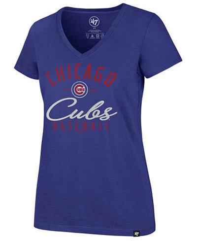 '47 Brand Women's Chicago Cubs Ultra Rival Metallic Script T-Shirt