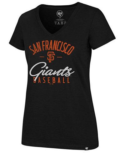 '47 Brand Women's San Francisco Giants Ultra Rival Metallic Script T-Shirt