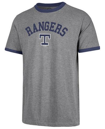 '47 Brand Men's Texas Rangers Capital Ringer T-Shirt