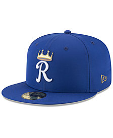 New Era Boys' Kansas City Royals Batting Practice Prolight 59FIFTY FITTED Cap