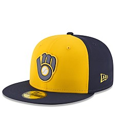 New Era Boys' Milwaukee Brewers Batting Practice Prolight 59FIFTY FITTED Cap