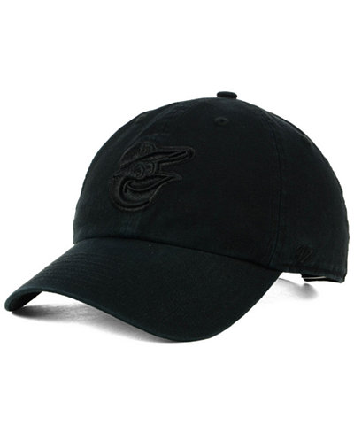 '47 Brand Baltimore Orioles Black on Black CLEAN UP Cap