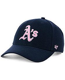 '47 Brand Oakland Athletics Navy Pink MVP Cap