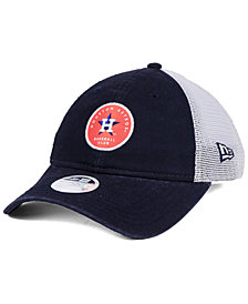 New Era Women's Houston Astros Washed Trucker 9TWENTY Cap