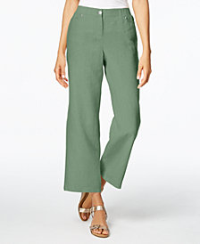 JM Collection Linen Wide-Leg Pants, Created for Macy's
