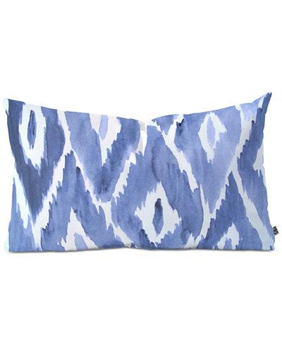 Deny Designs Natalie Baca Painterly Ikat in Indigo Throw Pillow