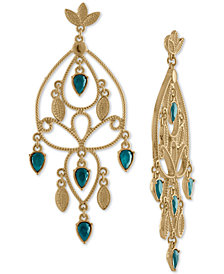 RACHEL Rachel Roy Gold-Tone Colored Stone Chandelier Earrings