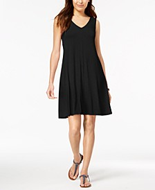 Petite Cross-Back Swing Dress, Created for Macy's
