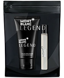 Receive a Complimentary 2-Pc. gift with any large spray purchase from the Montblanc Legend fragrance collection