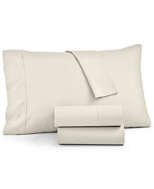 AQ Textiles York 600 Thread Count 4-Pc. California King Sheet Set, Created For Macy's