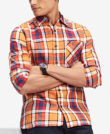 Tommy Hilfiger Men's Samson Classic-Fit Plaid Shirt, Created for Macy's