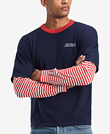 Tommy Hilfiger Men's Faux-Layer Graphic-Print T-Shirt