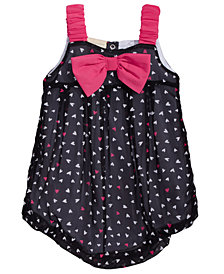 First Impressions Baby Girls Heart-Print Bubble Romper, Created for Macy's
