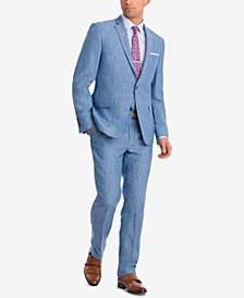 Men's Slim-Fit Blue Chambray Suit Separates, Created for Macy's