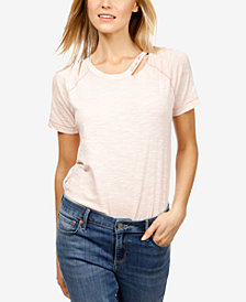 Lucky Brand Cotton Embroidered T-Shirt